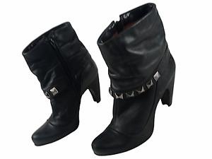 Bronx Damen Stiefeletten Leder Reißverschluss Damenstiefel EUR 39