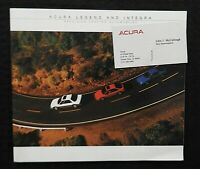 """1987 ACURA LEGEND & INTEGRA"" SALES CATALOG BROCHURE ORLAND PARK IL MINTY"