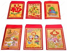 Chinese Red Envelopes in colors - Pack of 80