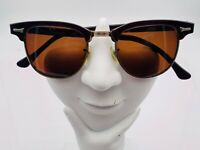 Vintage ART CRAFT Brown Gold Oval Browline Sunglasses USA FRAMES ONLY