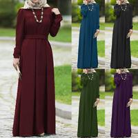 Women Muslim Islamic Farasha Ladies Elegent Party Evening Tunic Long Shirt Dress