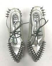 Jeffrey Campbell Stinger Creeper Platform Size 7 Clear Spike Stud Silver Shoes