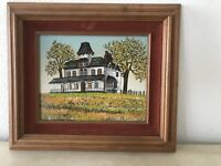 Signed Hargrove Painting Americana Old Farm House