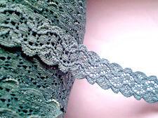 2m Spitzenborte elastisch PETROL 20mm Lace Dentelle Encaje Csipke кружева תחרה