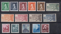 SPAIN - ESPAÑA - YEAR 1952 COMPLETE WITH ALL THE STAMPS MNH