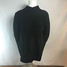598971eeb1ff8b NWT AUGUST SILK Womens Soft Black Acrylic Mock Neck Sweater Size L  60