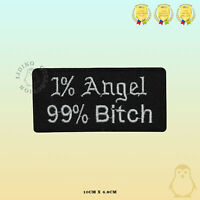 1%Angel Saying Bikers Embroidered Iron On Sew On Patch Badge