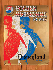 "TIN SIGN ""Golden Horseshoe Review"" Disneyland Pepsi Wall Poster"
