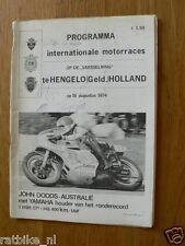 1974 INT RACES HENGELO GLD MOTO PROGRAMME. RENNPROGRAMME HAR54,JOHN DODDS,THUROW