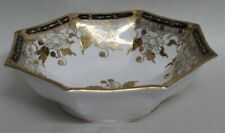 Gorgeous Antique Nippon Bowl Cobalt Blue & Gold Moriage Flowers