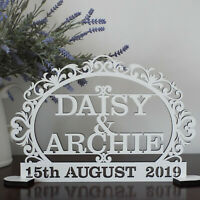 Personalised MR&MRS Sign Wedding TopTable Decoration date, gift, two names
