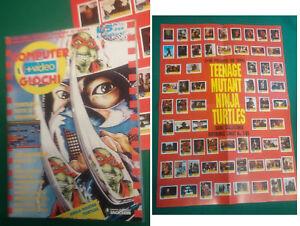 COMPUTER + VIDEOGIOCHI CVG NUMERO 1 con POSTER TURTLES Gennaio 1991 TMNT