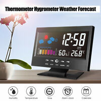 Digoo LCD Digital Clock Thermometer Weather Forecast Station Humidity Display