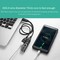 USB 2.0 A Male To 2 Dual USB Female Hub Power Cord Adapter Cable