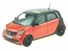 smart forfour 2015 negro + rojo coche en miniatura 351425 Norev 1:43
