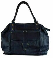 BZNA Bag Viola Blau taly Designer Damen Handtasche Ledertasche Schultertasche