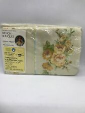 FAB! VTG Gallery Collection French Bouquet Perma Percale Two Queen Pillowcases