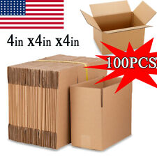 100 4x4x4 Corrugated Cardboard Box Mailing Shipping Boxes Packing Moving Carton