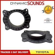 CT25TY09 15cm-17cm Front Door Speaker Adaptors For Toyota Prius (2010-2014)