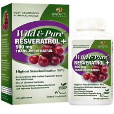 GENCEUTIC - Wild and Pure Resveratrol 500 mg - 60 Vegetarian Capsules