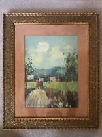 🔥 RARE Antique 19th c. French Impressionist Landscape Oil Painting, Signed