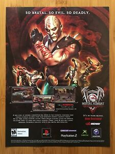 Mortal Kombat: Deadly Alliance PS2 Xbox 2002 Print Ad/Poster Official Promo Art