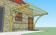 Tettoia in legno con archi 3x2,5x h.2,7 m. pergola addossata in pino impregnato