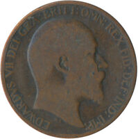 1902 HALF PENNY OF EDWARD VII. / COLLECTIBLE COIN    #WT5364