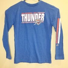 Oklahma City Thunder Basketball Long Sleeve Blue Shirt Men's Size Large L