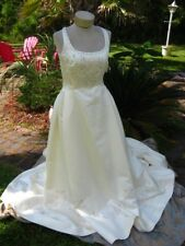 NWT ST PATRICK WEDDING GOWN IVORY WITH PINK FLOWERS 10