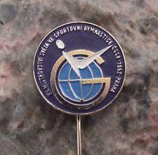 1962 Rare World Championships Sport Gymnastics Czechoslovakia Prague Pin Badge