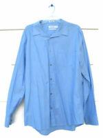 Calvin Klein Cool Tech Men's Blue Shirt Long Sleeve Non Iron 100% Cotton XL