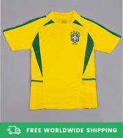 Brazil 2002 World Cup Jersey Camiseta Shirt Ronaldo Rivaldo Ronaldinho Size S-XL