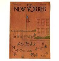 Vtg October 1978 New Yorker Magazine Cover Children Playing School Playground