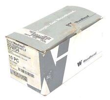 BOX OF 10 NEW DANIEL WOODHEAD 50W54 REPLACEMENT CLOSURE CAPS FORM 4, YELLOW