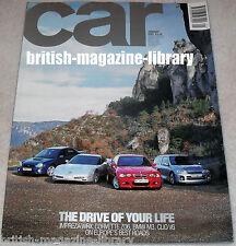 Car January 2001 -  WRX Corvette ZO6  BMW M3 Clio V6
