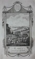 Genuine antique print JAPAN, JAPANESE ARMY, SOLDIERS, Middleton's Geography 1777