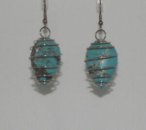 Native American Turquoise Earrings by Charmayne Nelson, Navajo Quantity Discount