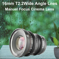 Meike16mmT2.2wide-angle lens for M4/3 mount OLYMPUS/Panasonic Lumix/BMPCC Camera