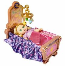 New In Box Disney Animators' Collection Rapunzel Baby Doll and Crib Gift Set