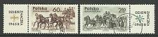 POLAND 1965 STAMP DAY PAIR USED