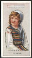 Poland Young Child  With Pop-Up Image 1920s Ad Trade Card Polish Girl