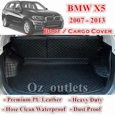 Tailor Made PU Leather Trunk Boot Liner Cargo Mat Cover for BMW X5 2007 - 2013
