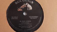 Los Chavales De Espana - 78rpm single 10-inch – Victor #20-5941 In Old Lisbon