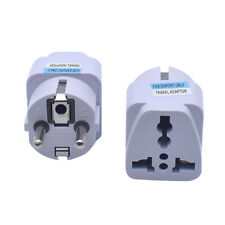 IG_ HN- American US or UK /AU to European EU Power Outlet Plug Socket Adapter Co