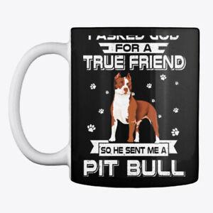 A True Friend So Sent Me Pitbull Dog Mug