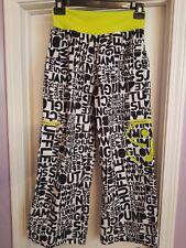 Zumba Women's XXL Cargo Shout Out Dance Workout Pants Black/White/Lime