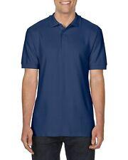 Gildan Premium Cotton Polo Shirt Herren dunkelblau navy Größe S