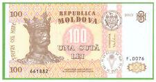 MOLDOVA  - 100 LEI - 2013 - P-15c - UNC - REAL FOTO