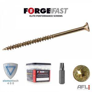 ForgeFast Elite Low Torque Torx Wood Screws Tub 4.0x25mm to 5.0x100mm